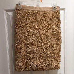 Banana republic shimmery gold skirt. Size 0